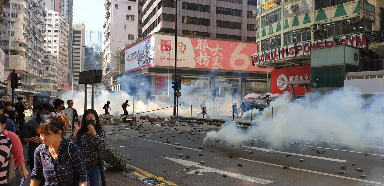 Lunchtime Teargas