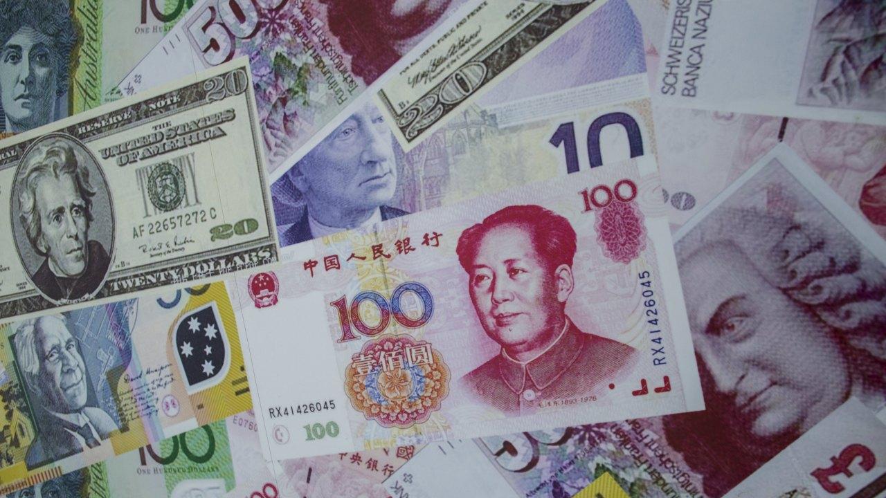 人民元と様々の通貨