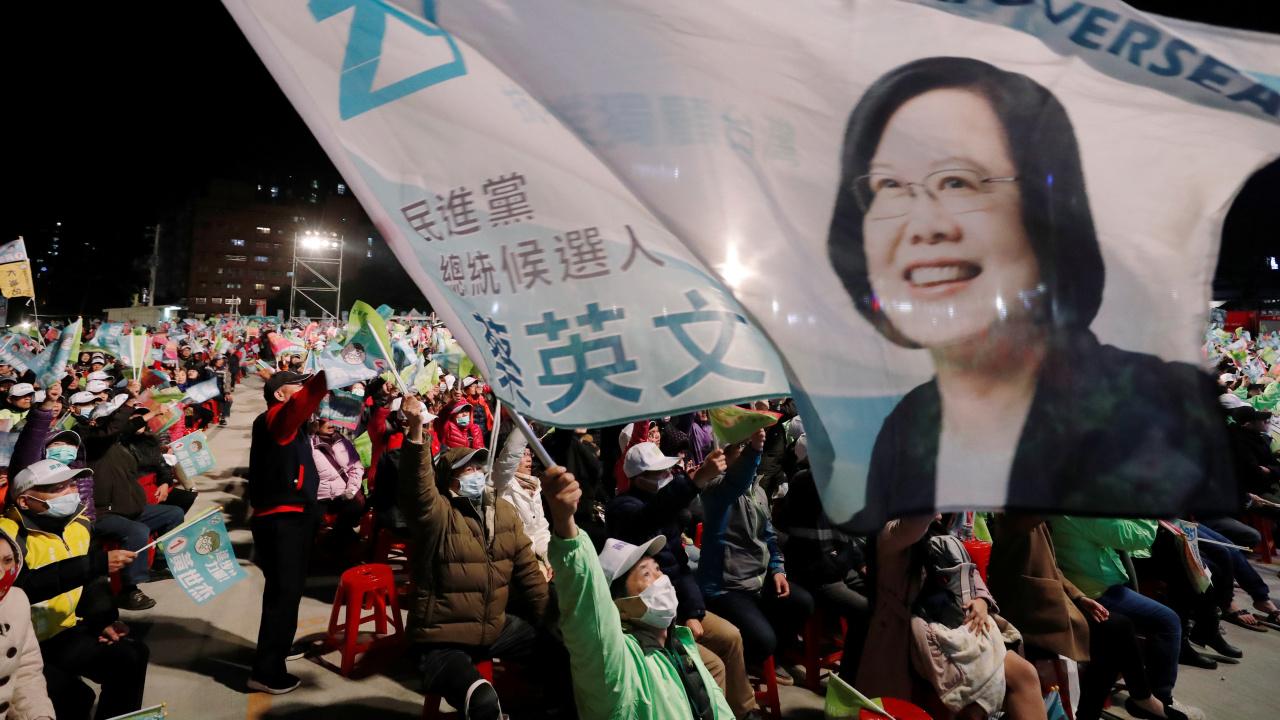 2020年 台湾総統選挙 蔡英文総統が選挙活動