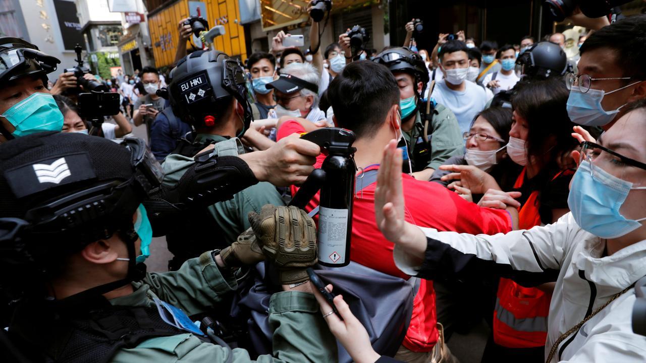 香港の抗議デモ(提供:ロイター/アフロ)