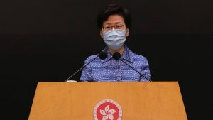 香港行政長官が会見 「国家安全法」を擁護(提供:ロイター/アフロ)