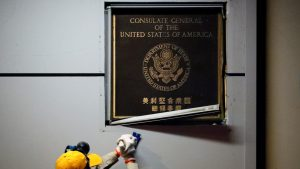 成都の米総領事館 中国政府が閉鎖を命令(写真:ロイター/アフロ)