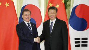 韓国大統領が訪中 北京で中韓首脳会談(写真:YONHAP NEWS/アフロ)
