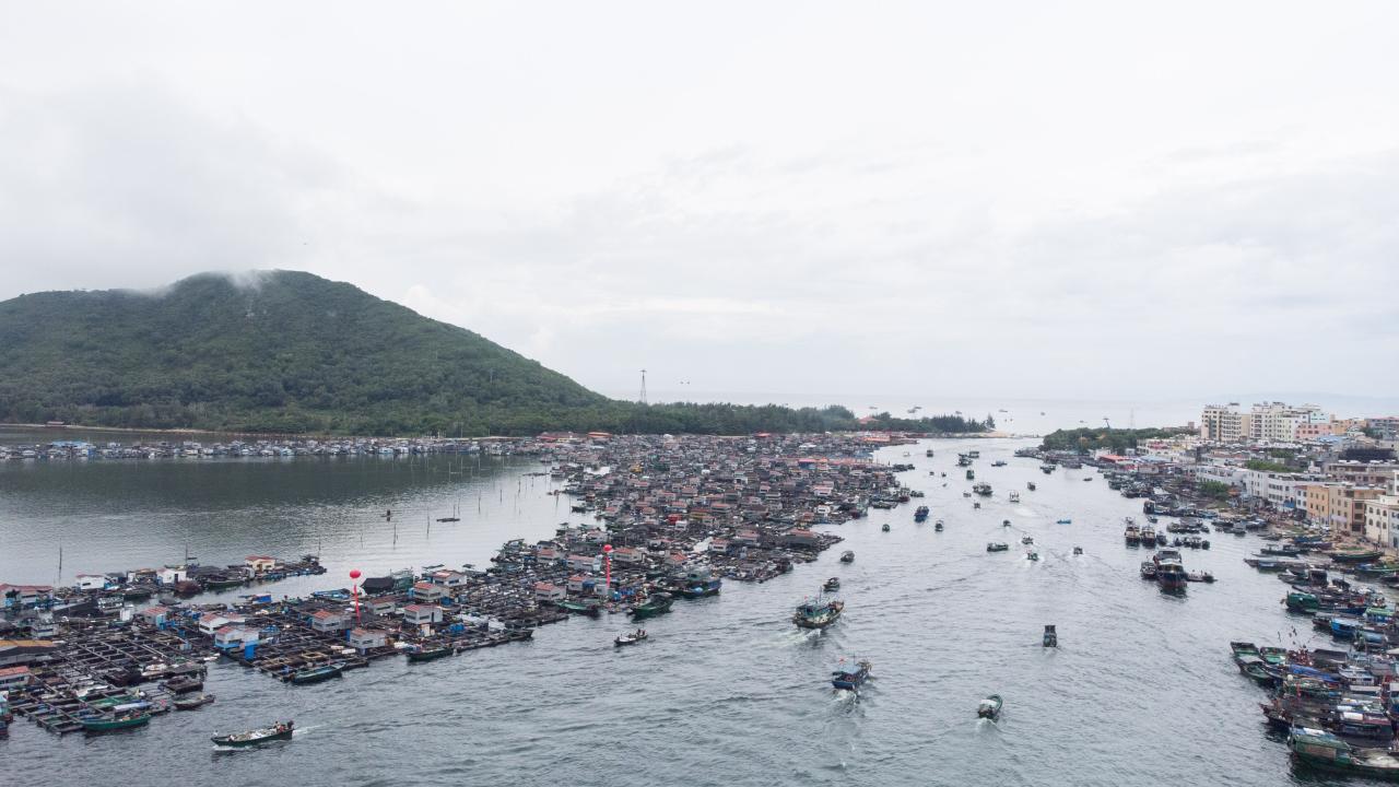 中国の漁船 夏の休漁期間明け海へ(写真:新華社/アフロ)