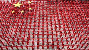 千人で「五星紅旗」表現(写真:Top Photo/アフロ)