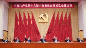Xi Jinping, Li Keqiang, Li Zhanshu, Wang Yang, Wang Huning, Zhao Leji and Han Zheng attend the fifth plenary session of the 19th Central Committee of the Communist Party of China (CPC) in Beijing, capital of China. The session was held in Beijing from Oct. 26 to 29, 2020. (Xinhua/Wang Ye)