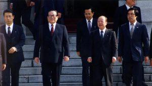 1992年4月6日訪日した時の江沢民(写真:Fujifotos/アフロ)