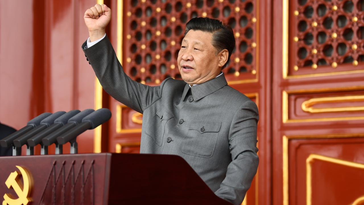 Xi Jinping, general secretary of the Communist Party of China (CPC) Central Committee, Chinese president and chairman of the Central Military Commission, delivers an important speech at a ceremony marking the 100th anniversary of the founding of the CPC in Beijing, capital of China, July 1, 2021. (Xinhua/Xie Huanchi)