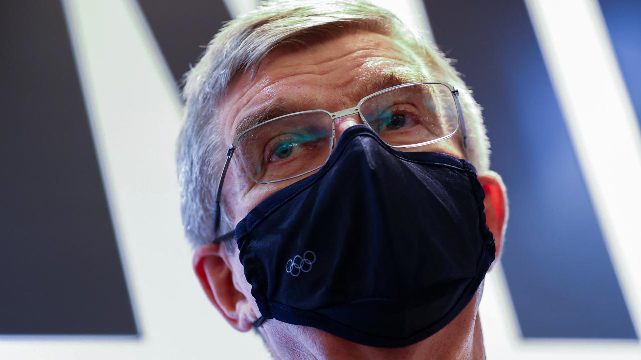 IOCのバッハ会長(写真:代表撮影/ロイター/アフロ)