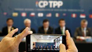 中国と台湾が加盟申請をしているTPP(CPTPP=TPP11)(写真:ロイター/アフロ)